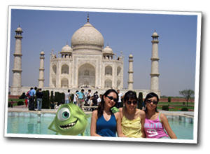 The the Taj Mahal with the lasses